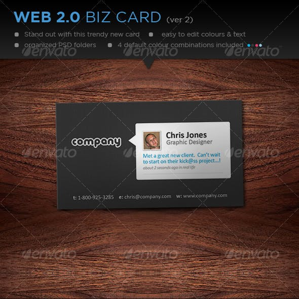 Web 2.0 Style Business Card