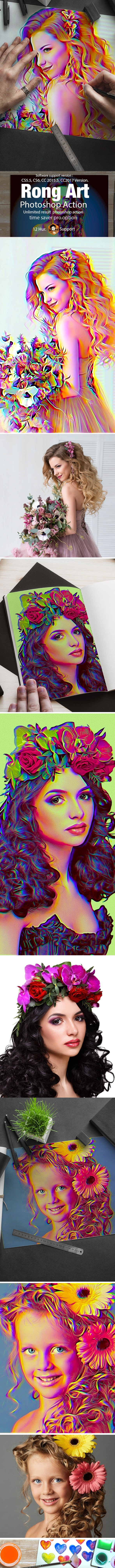 Rong Art Action - Photo Effects Actions