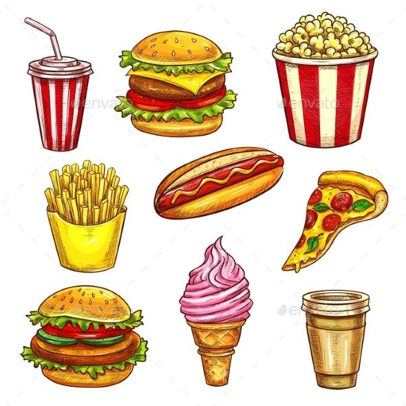 Fast Food Lunch Takeaway - Food Objects