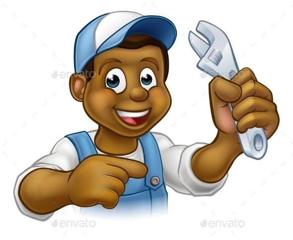 Mechanic or Plumber Handyman - People Characters