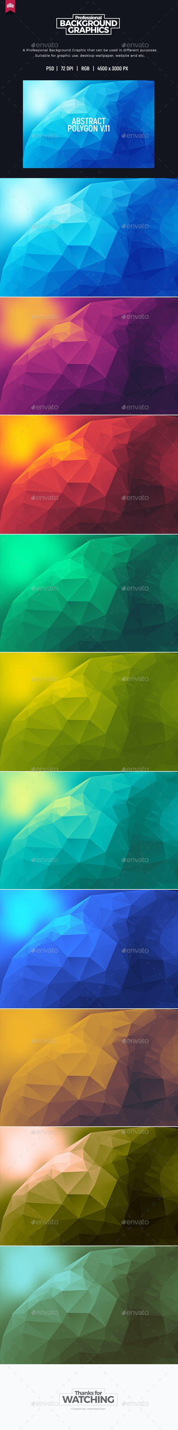Abstract Polygon V.11 - Background - Abstract Backgrounds