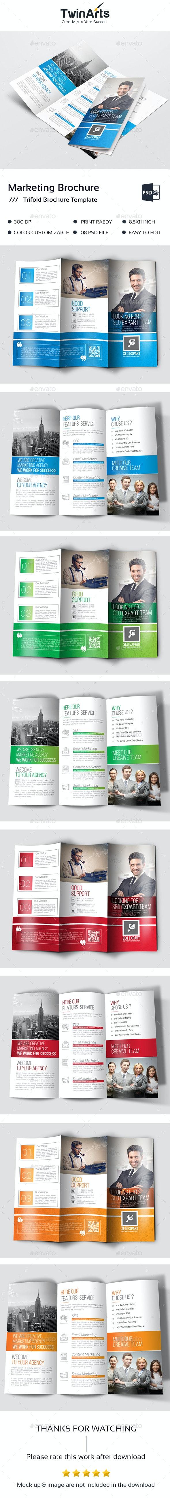 Marketing Trifold Brochure - Brochures Print Templates