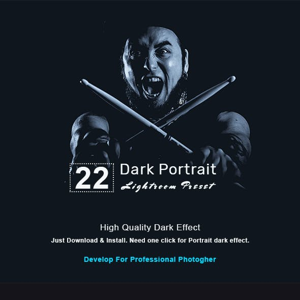 22 Dark Portrait | Lightroom Presets