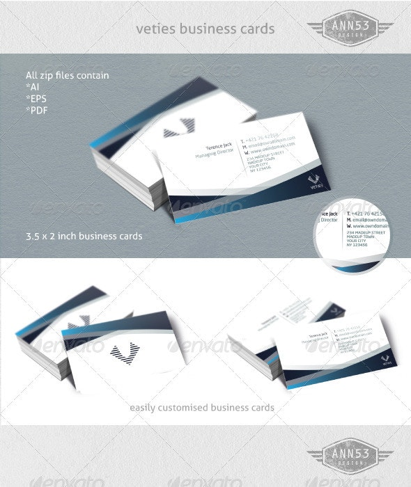 Veties Business Card - Corporate Business Cards