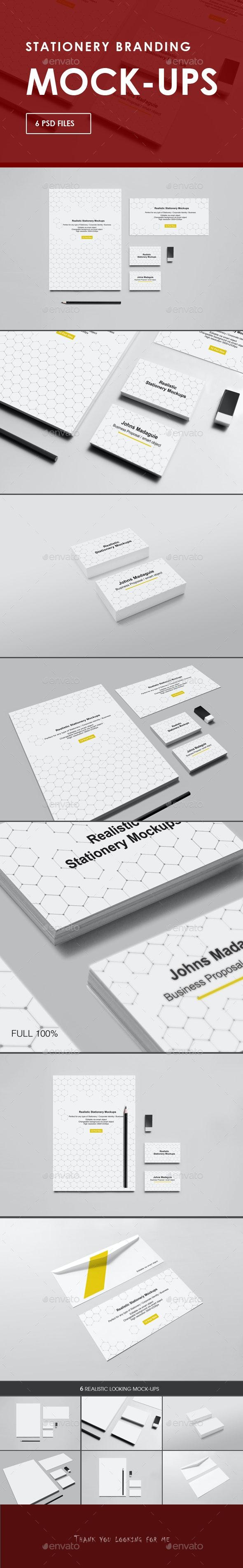 Branding / Identity Mock-ups - Stationery Print