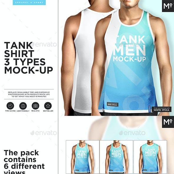 Tank Shirt 3 Types Mock-up