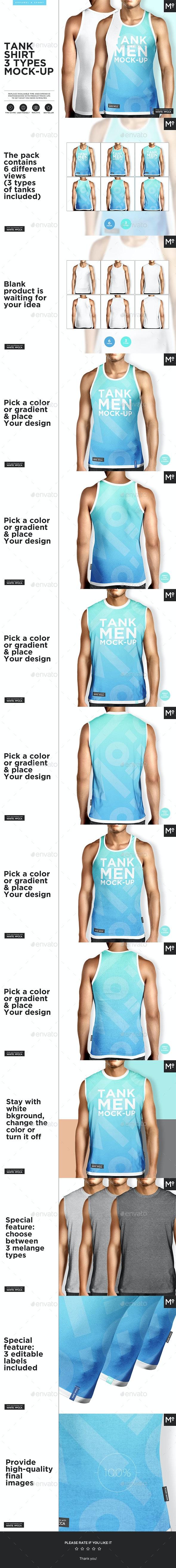 Tank Shirt 3 Types Mock-up - Miscellaneous Apparel