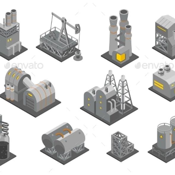 Isometric Factories Set