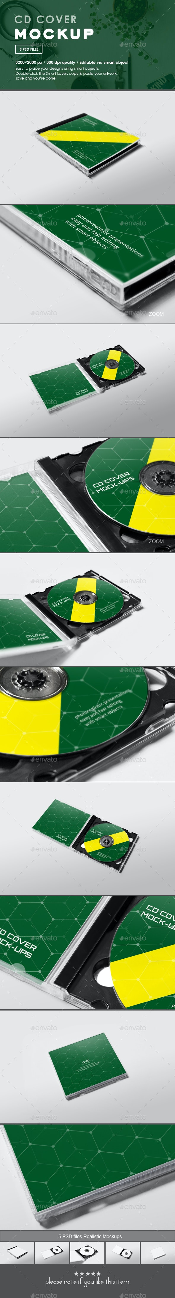 CD Cover Mockup - Miscellaneous Print