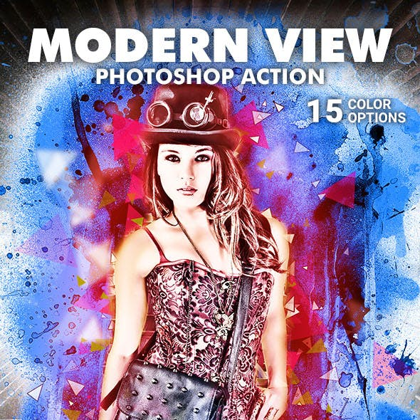 Modern View Photoshop Action