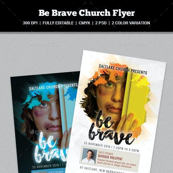 Be Brave Church Flyer