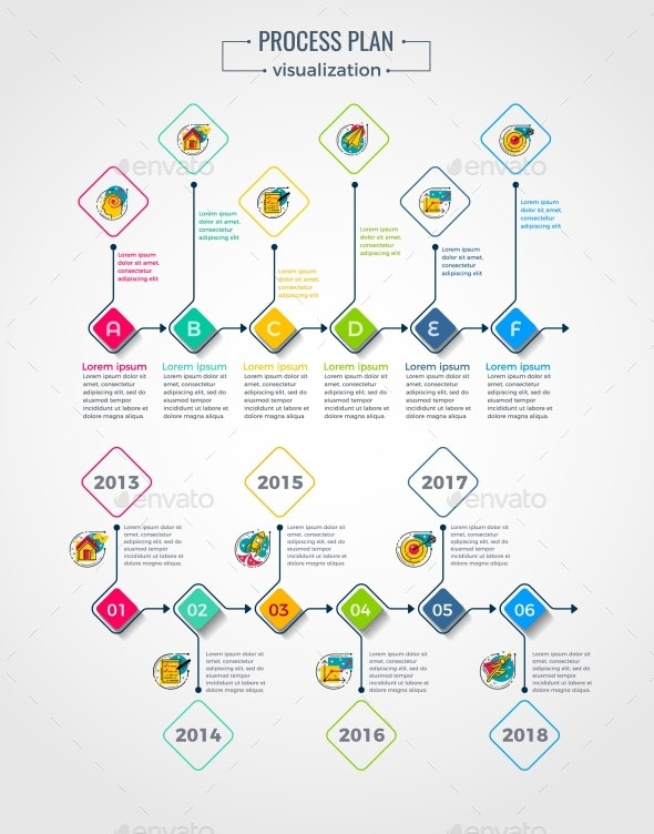 Process Visualization Template - Infographics