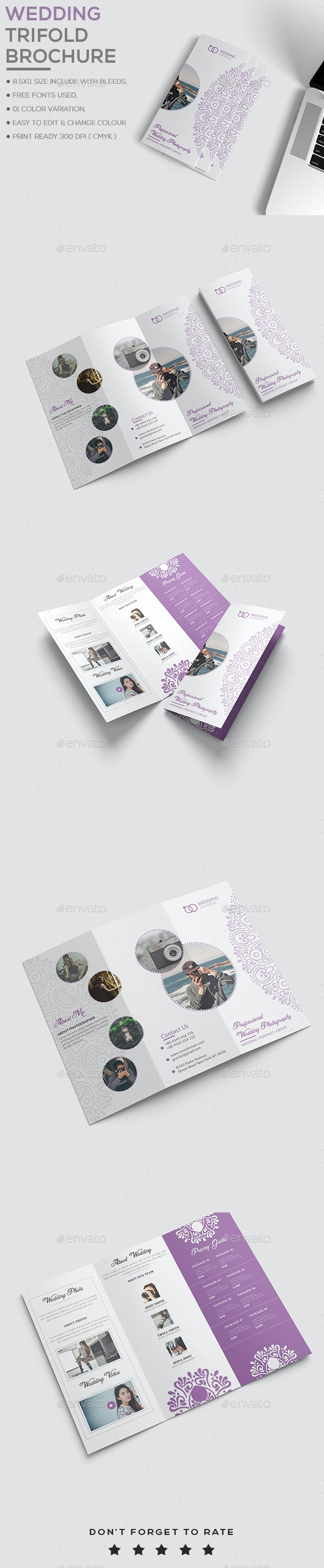 Wedding Trifold Brochure - Brochures Print Templates