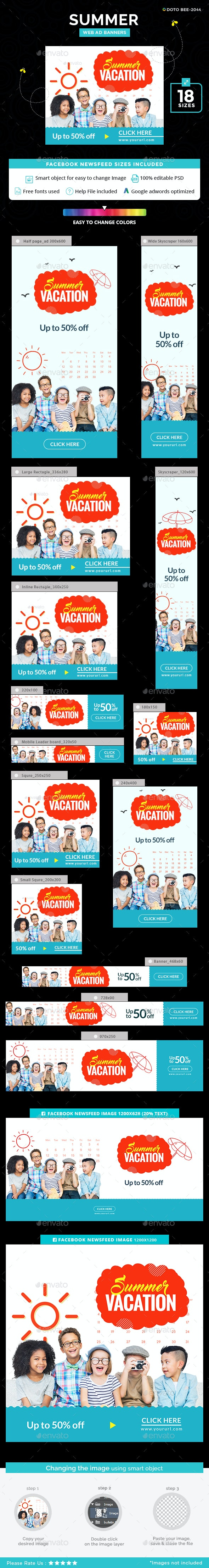 Summer Banners - Banners & Ads Web Elements
