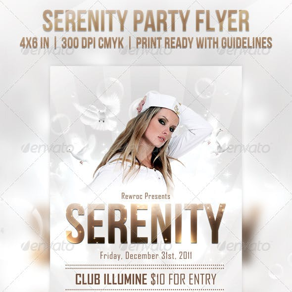 Serenity Party Flyer