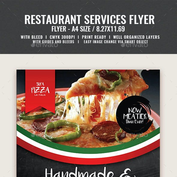 Pizza and Pasta Restaurant Flyer