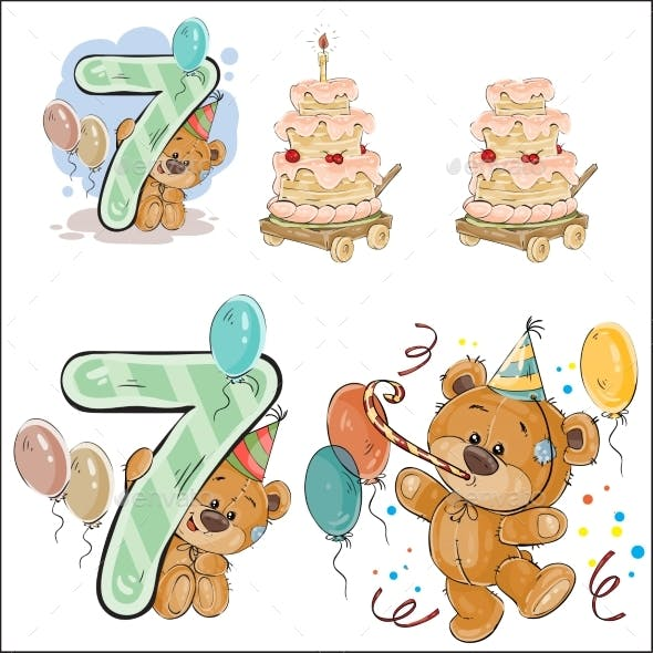 Brown Teddy Bear Birthday