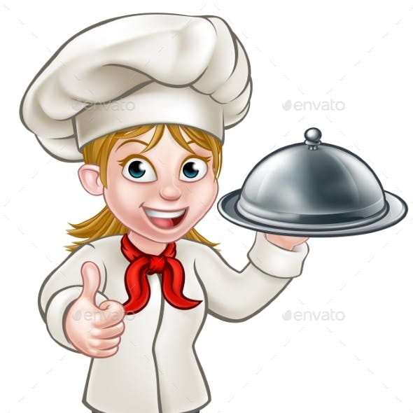 Female Woman Chef Cartoon Character