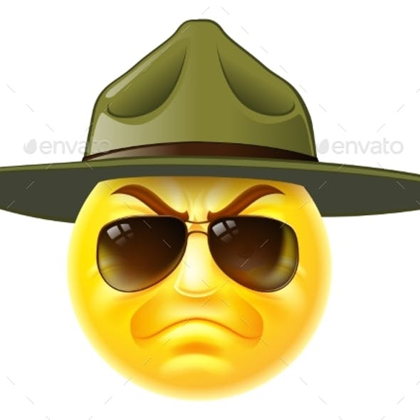 Emoji Emoticon Drill Sergeant