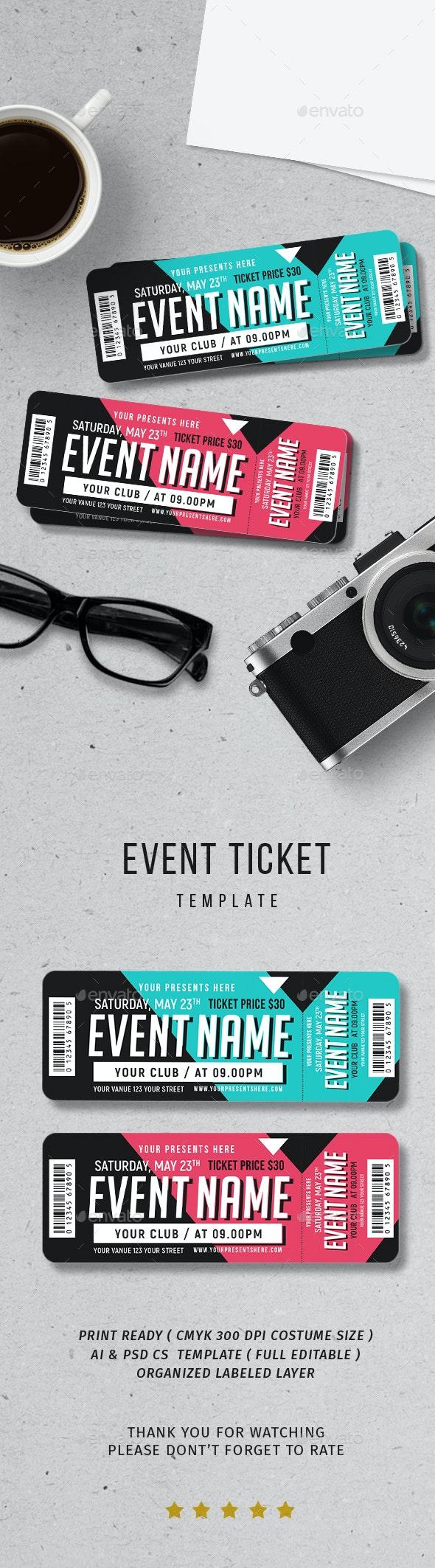 Event Ticket - Print Templates