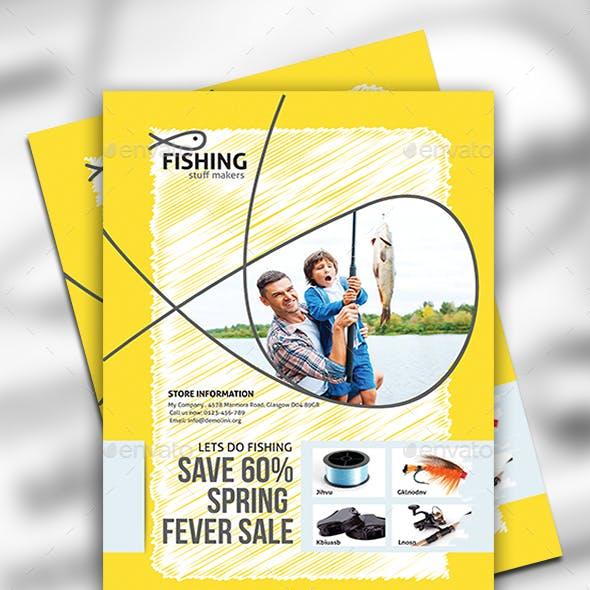 Fishing Equipment Store Flyer