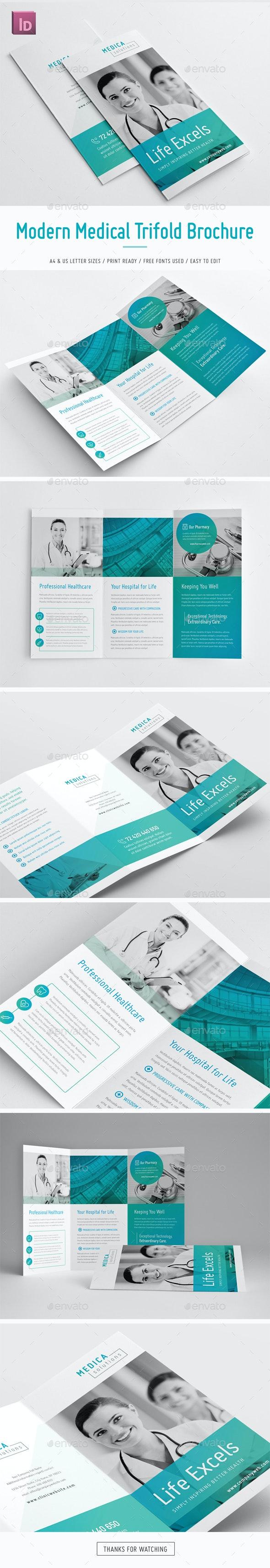 Modern Medical Trifold Brochure - Brochures Print Templates