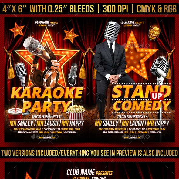Karaoke and Comedy Flyer Template