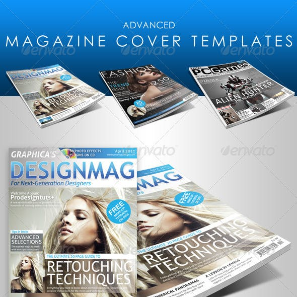 Advanced Magazine Cover Templates