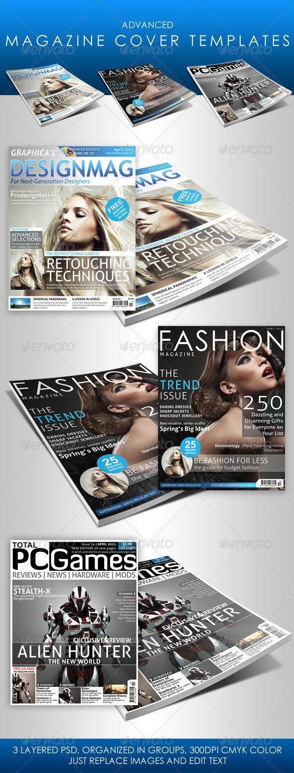 Advanced Magazine Cover Templates - Magazines Print Templates