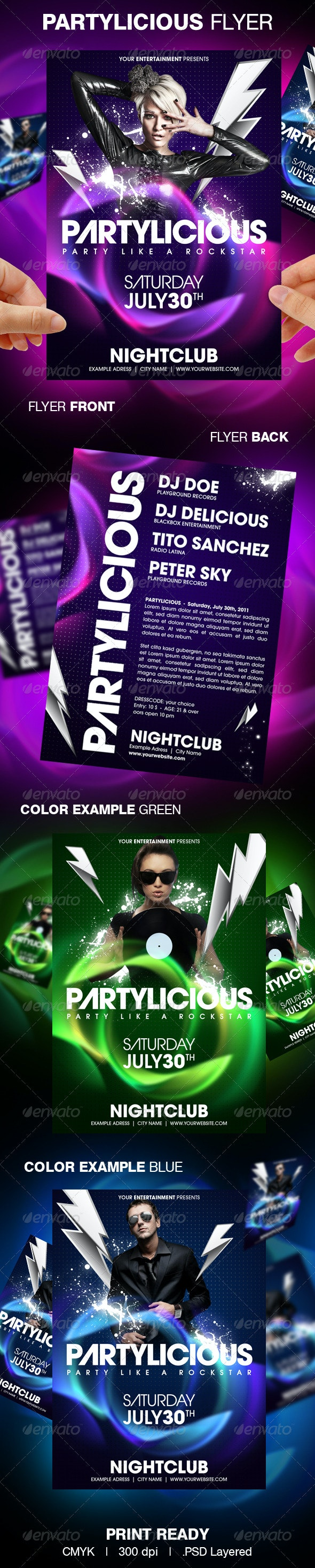 Partylicious Party Flyer - Clubs & Parties Events