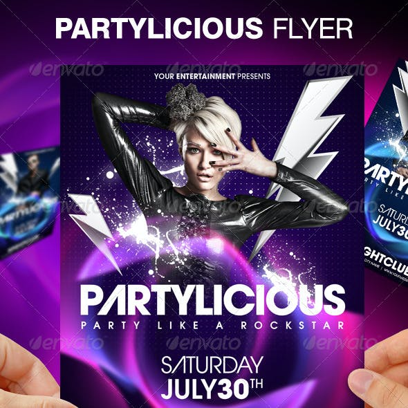 Partylicious Party Flyer