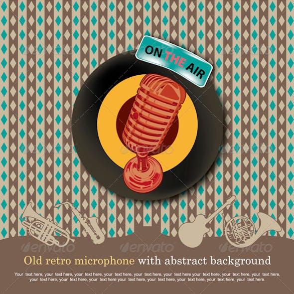 Old retro micrphone
