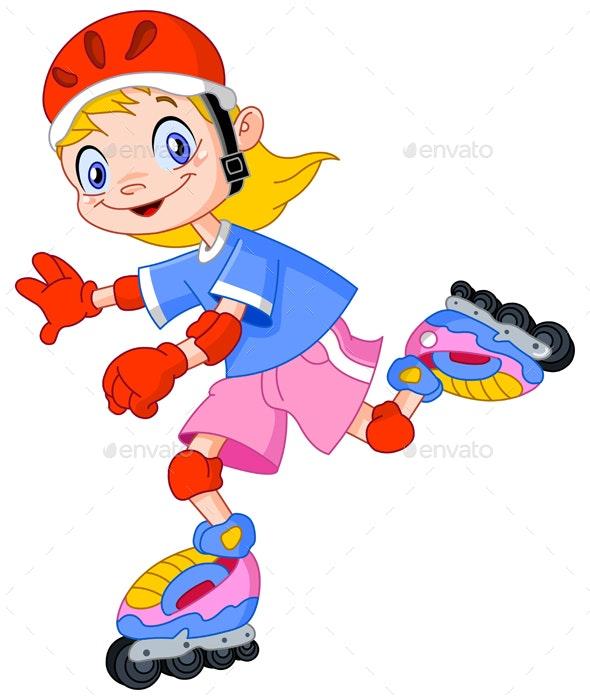 Rollerblades Kid - People Characters
