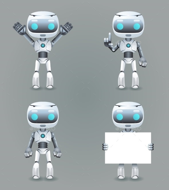 Robot Different Poses Innovation Technology - Technology Conceptual