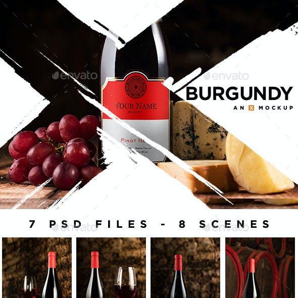 Cellar Wine Mockup - Burgundy