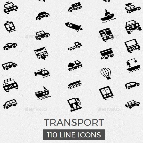Transport Glyphs Icons
