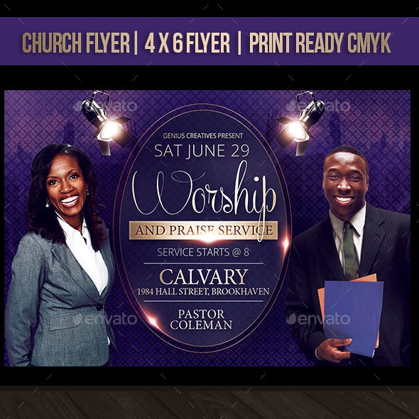 Worship Church Flyer Template