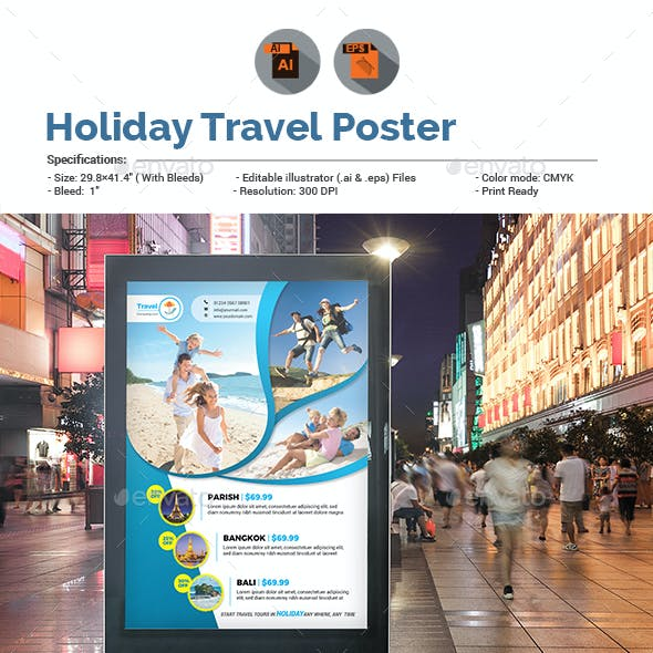 Holiday Tour & Travel Poster