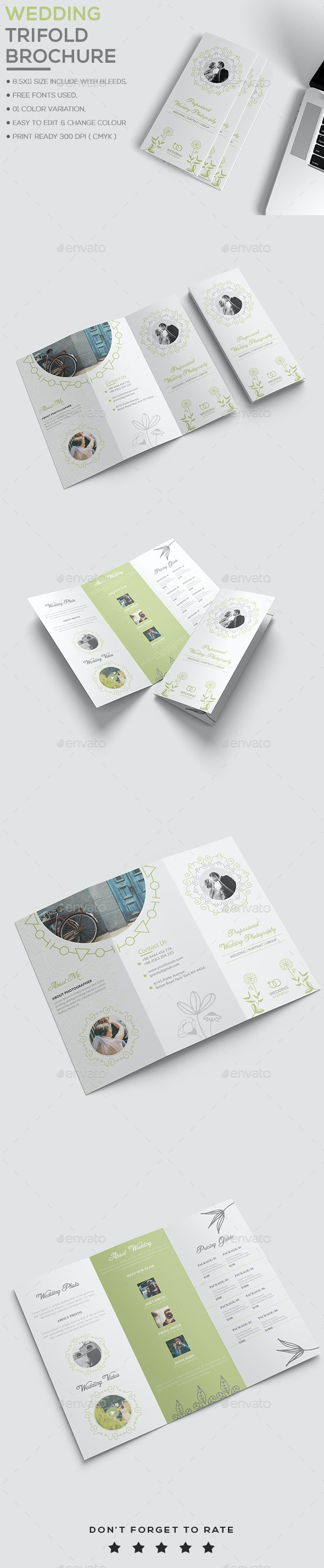 Wedding Brochure Template - Brochures Print Templates