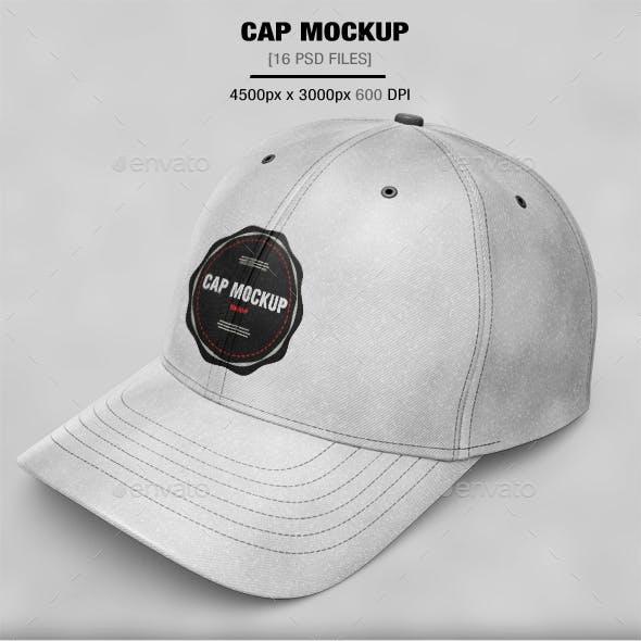 16 Cap Mockup