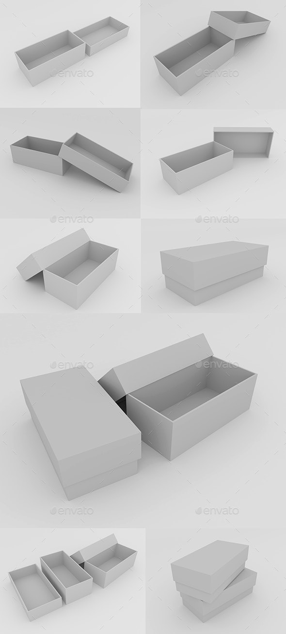 Boxes - Objects 3D Renders