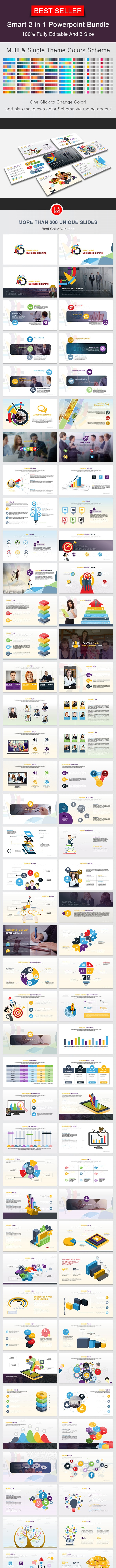 Smart 2 in 1 Powerpoint Bundle - Business PowerPoint Templates