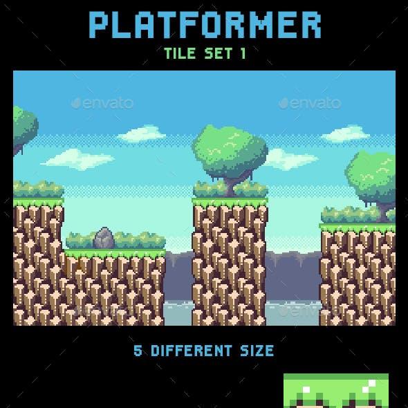 Platformer Tile Set 1 Without Slope
