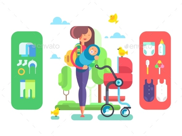 Mother and Baby - People Characters