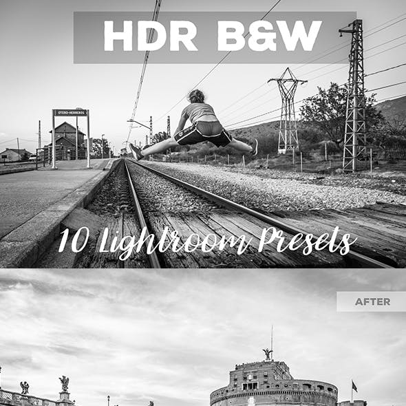 Black And White HDR Lightroom Presets