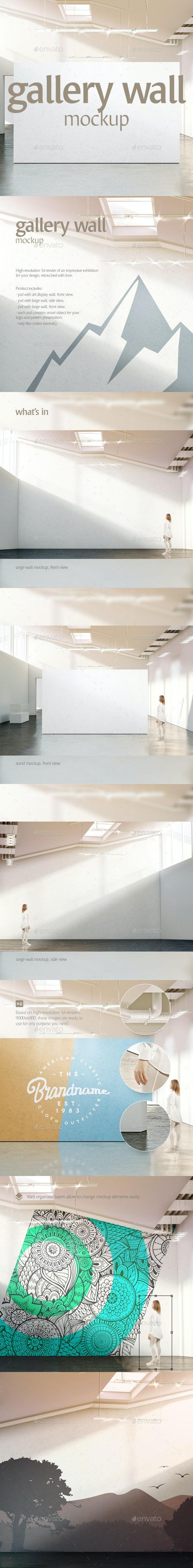 Gallery Wall Mockup - Objects 3D Renders