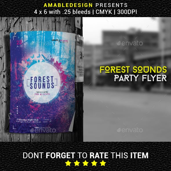 Forest Sounds Graphics, Designs & Templates from GraphicRiver