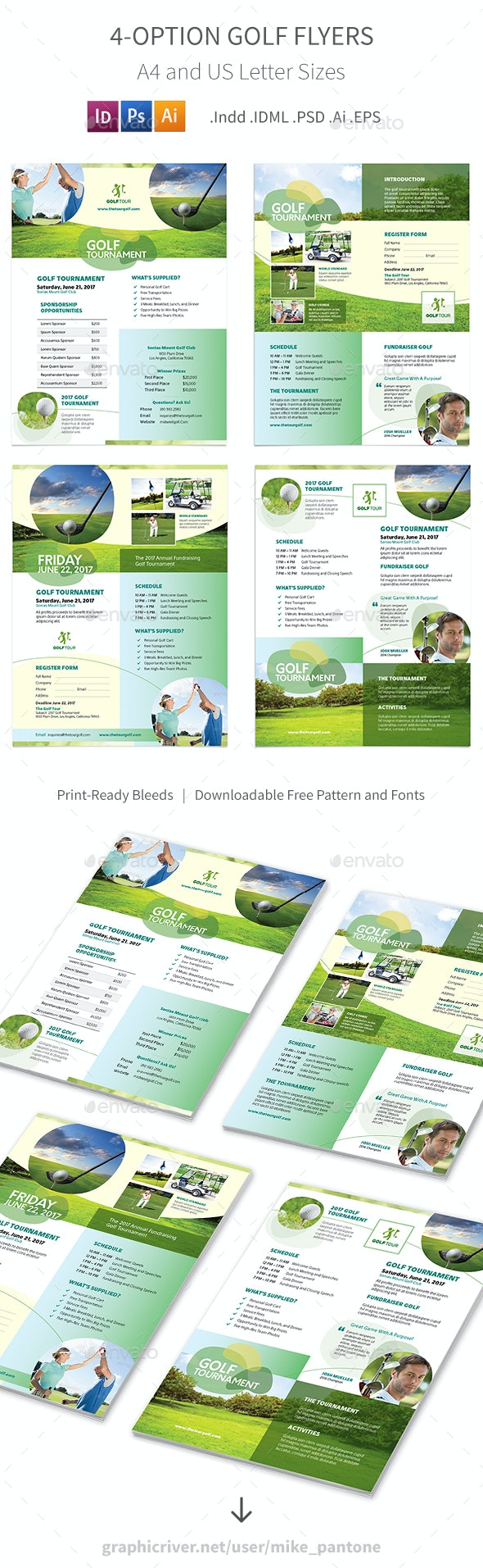 Golf Flyers 6 – 4 Options - Corporate Flyers
