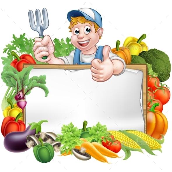 Gardener Vegetables Sign