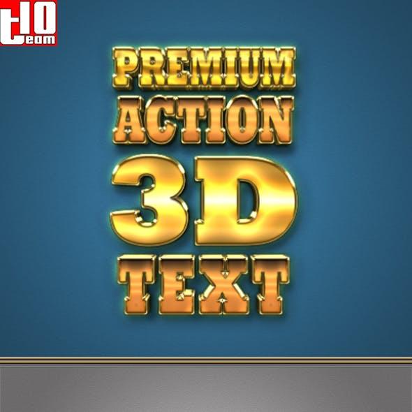 Premium Action 3D Text